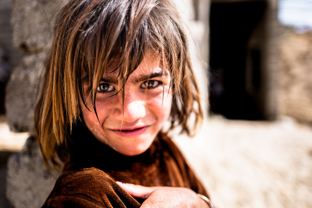 A little girl in Mount Sinjar