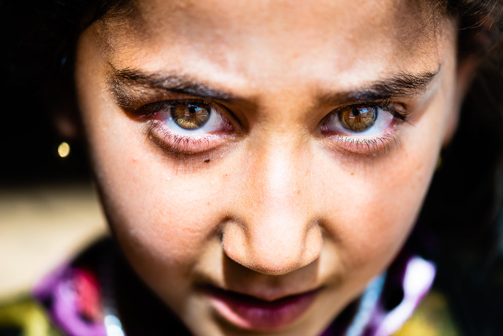 The determination in the eyes of this yazidi little girl on top of Mount Sinjar
