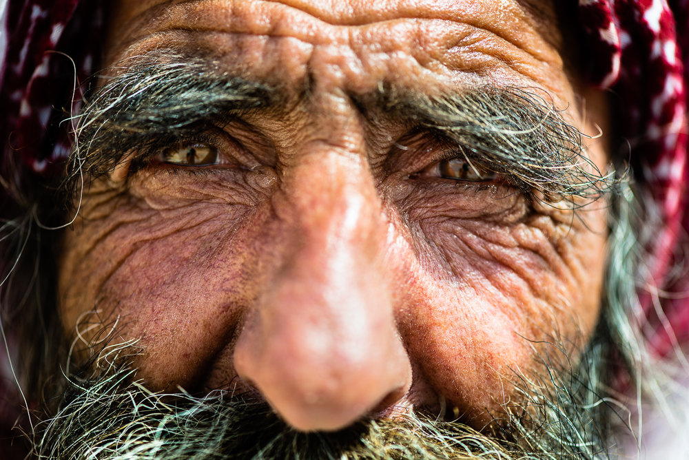 An old yazidi man in the Sinjar Mount