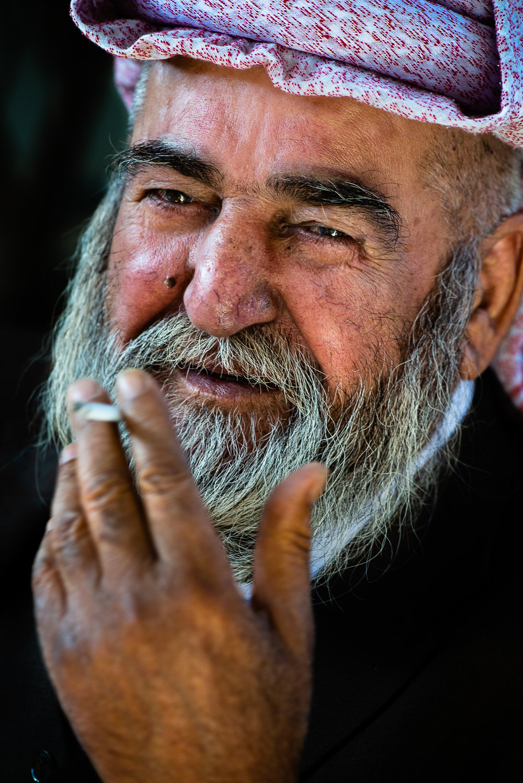 Happy man at Baba Shakir's house