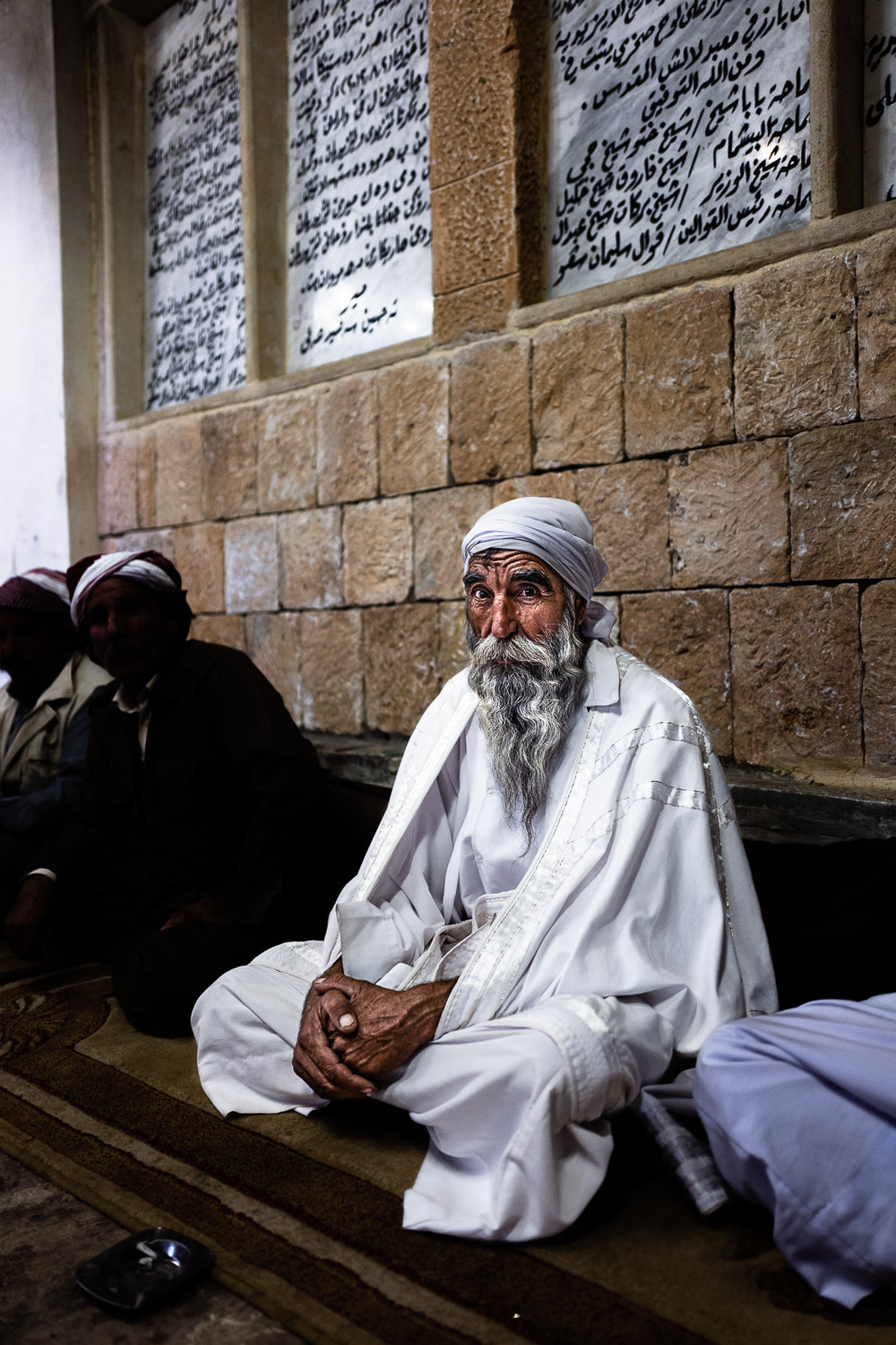 An important religious man in Lalish