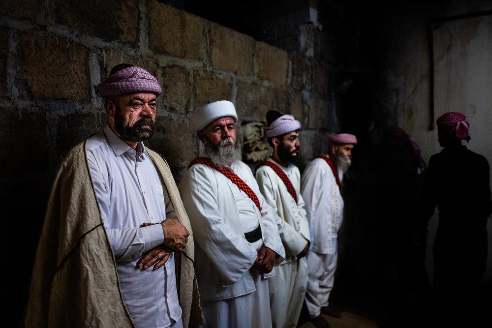 Important religious Yazidi men during the Cejna Cemaiya