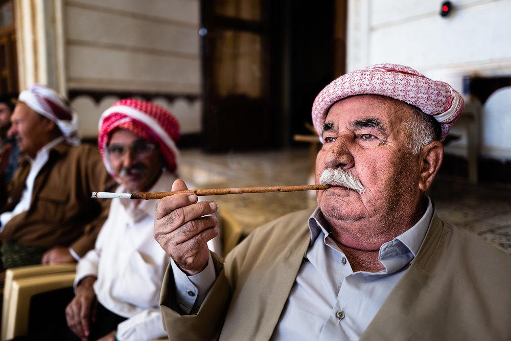 Religious man at Baba Sheikh's house