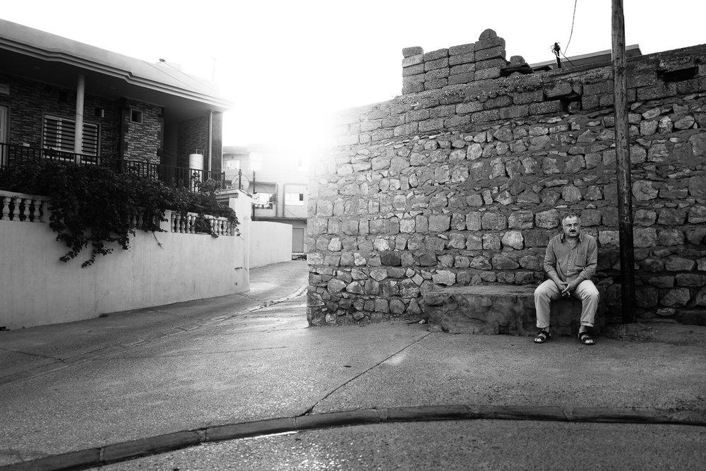 Man taking his rest befor the sunset. Al-Shikhan