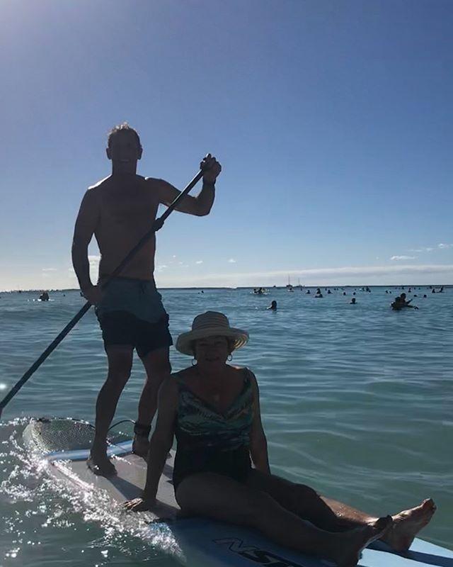 Surfing Waikiki with mom!