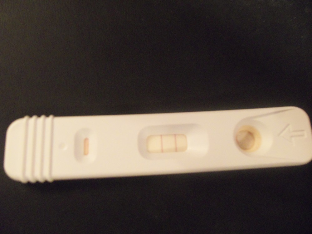 Actual Kroger pregnancy test showing I was pregnant.   1993