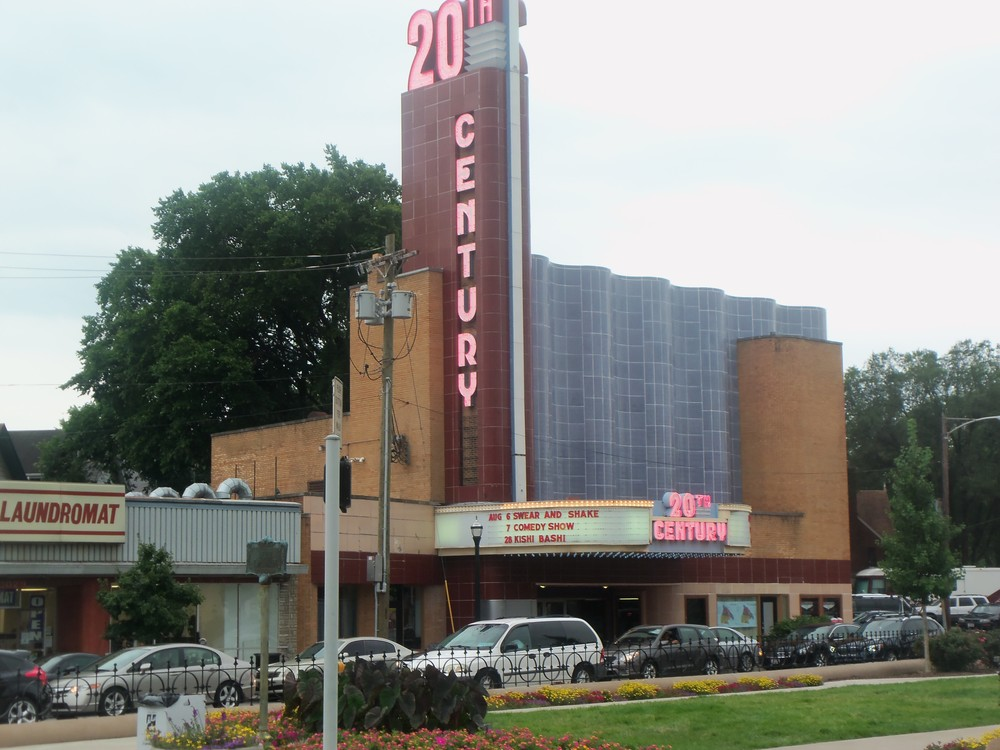 20TH CENTURY THEATER IN OAKLEY ACROSS FROM LENOX BLDG.  PHOTO BY KATHY STORRIE 7-26-14