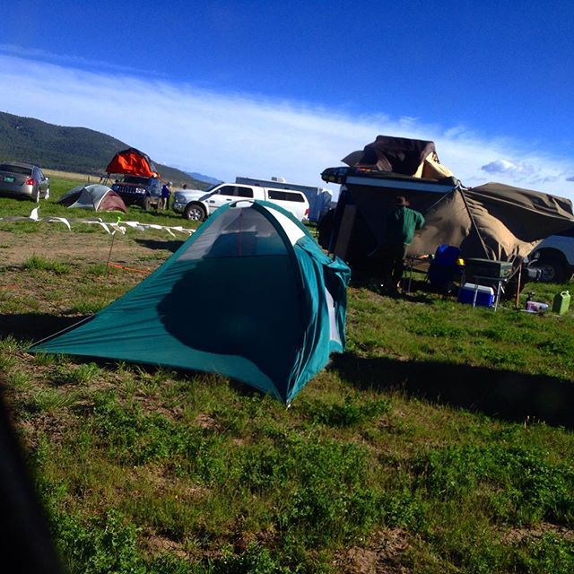 It's a VERY windy day at the overland expo. More than a few tents have been seen blowing across the field. #overlandexpo #overlandexpo2016