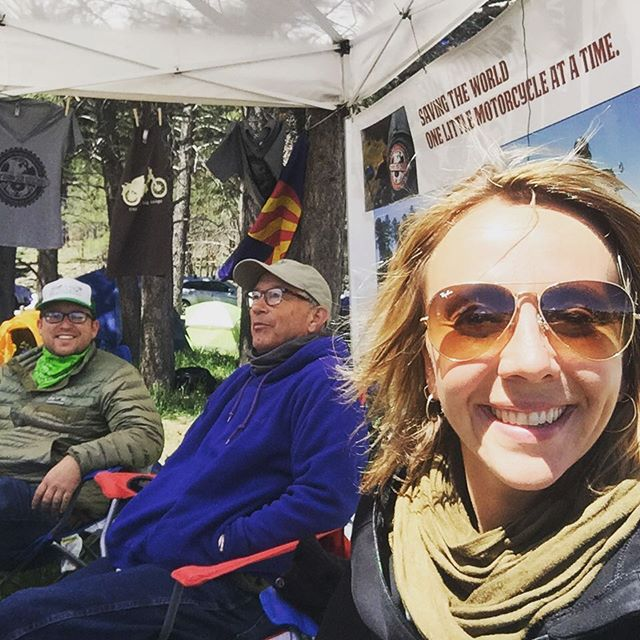 Another beautiful day at the @tinybikesbigchange booth at the @overlandexpo #tinybikes #bigchange #advmoto #ride #vivalatinybikes #seriouslysmall @remerglobal @augusteva @honda_powersports_us