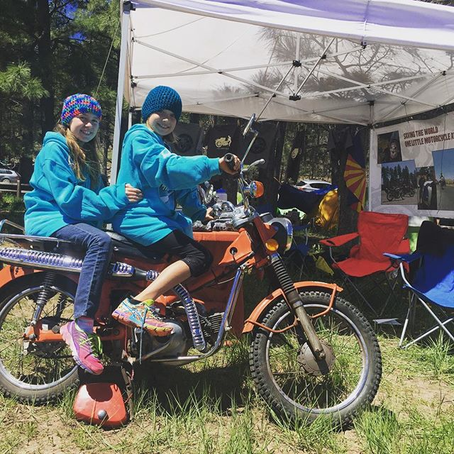 These awesome ladies just said that our #trail90 is the coolest bike at the Expo! We love inspiring future generations of adventure riders! @overlandexpo #seriouslysmall #vivalatinybikes #ride #advmoto #tinybikes #bigchange #motogirl #motolady #womenwhoride #recklessempowerment