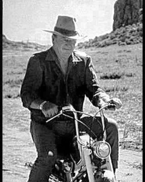 One of John Wayne's lesser-known steeds. Even Duke knew how fun tiny bikes are! #tinybikesbigchange