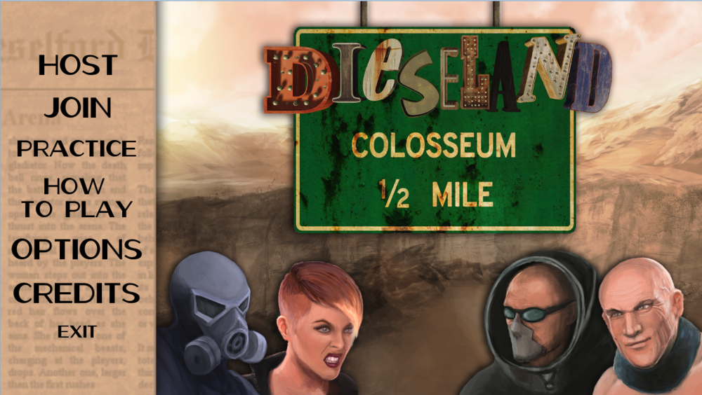 The Dieseland Colosseum Main Menu