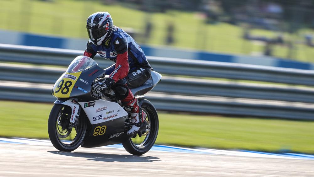 Hard braking! Photo credit: Christopher Brown - Raceline Images