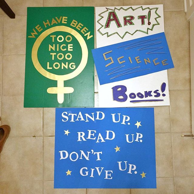 We've got signs!! See you at the March! ✨💪✨