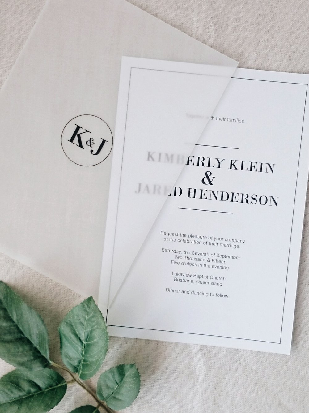 Adelaide - A sophisticated and understated wedding invitation suite ...