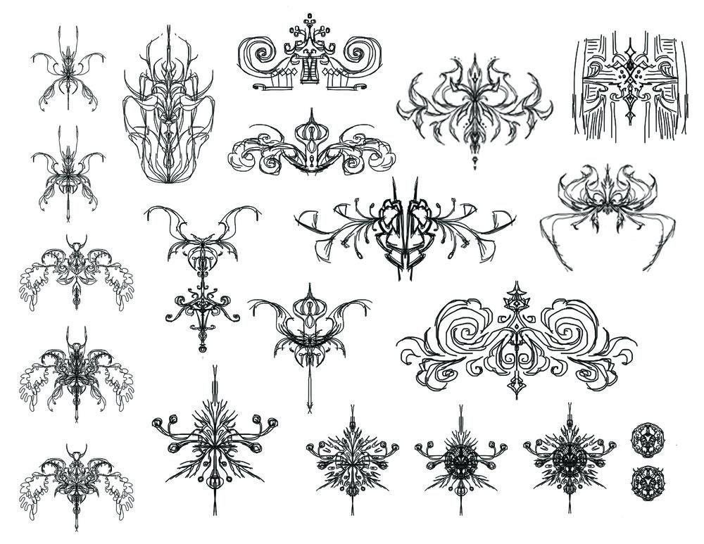 Digital sketches in sketchbook pro
