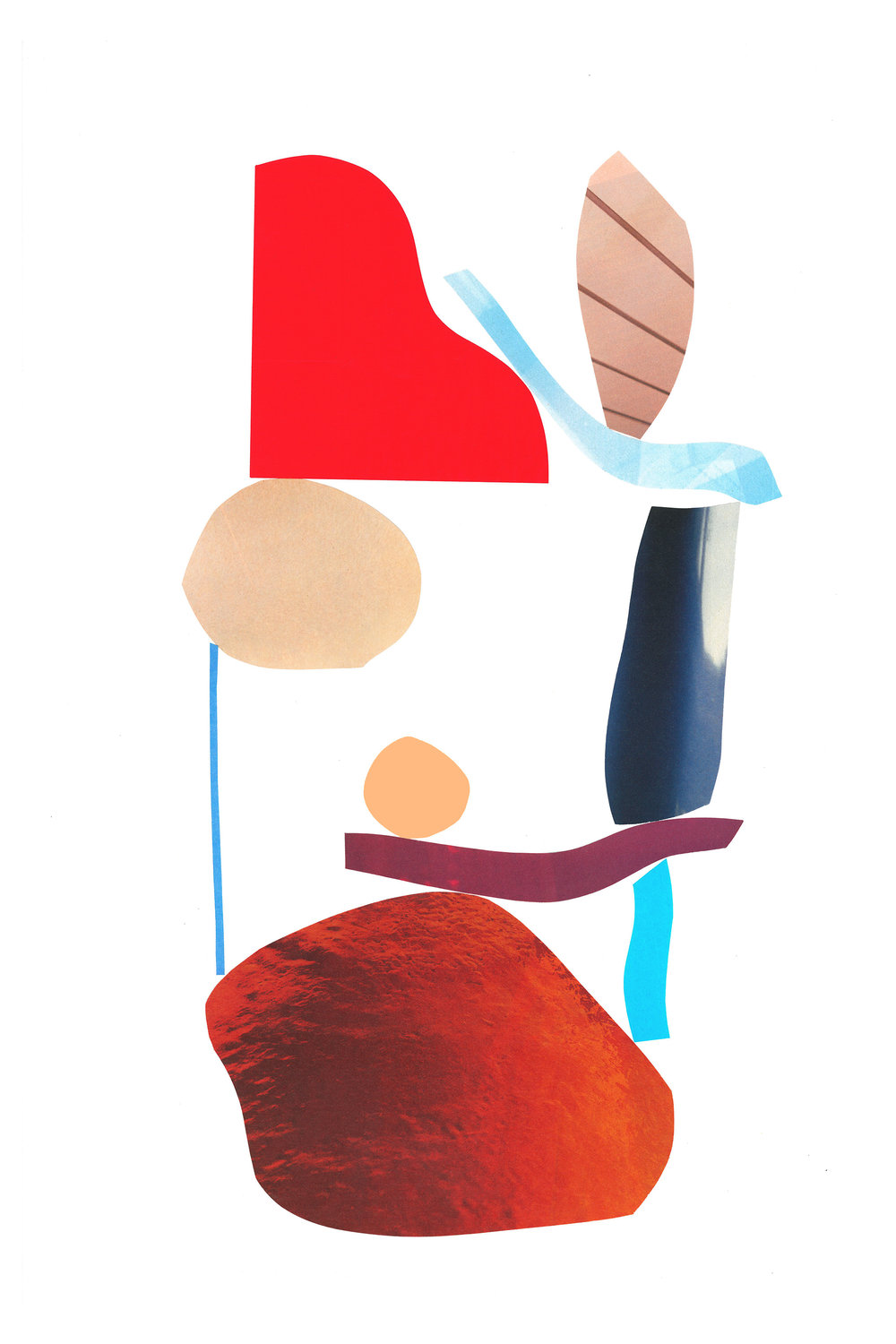 Untitled Collage 1, Mixed media on paper, 2015