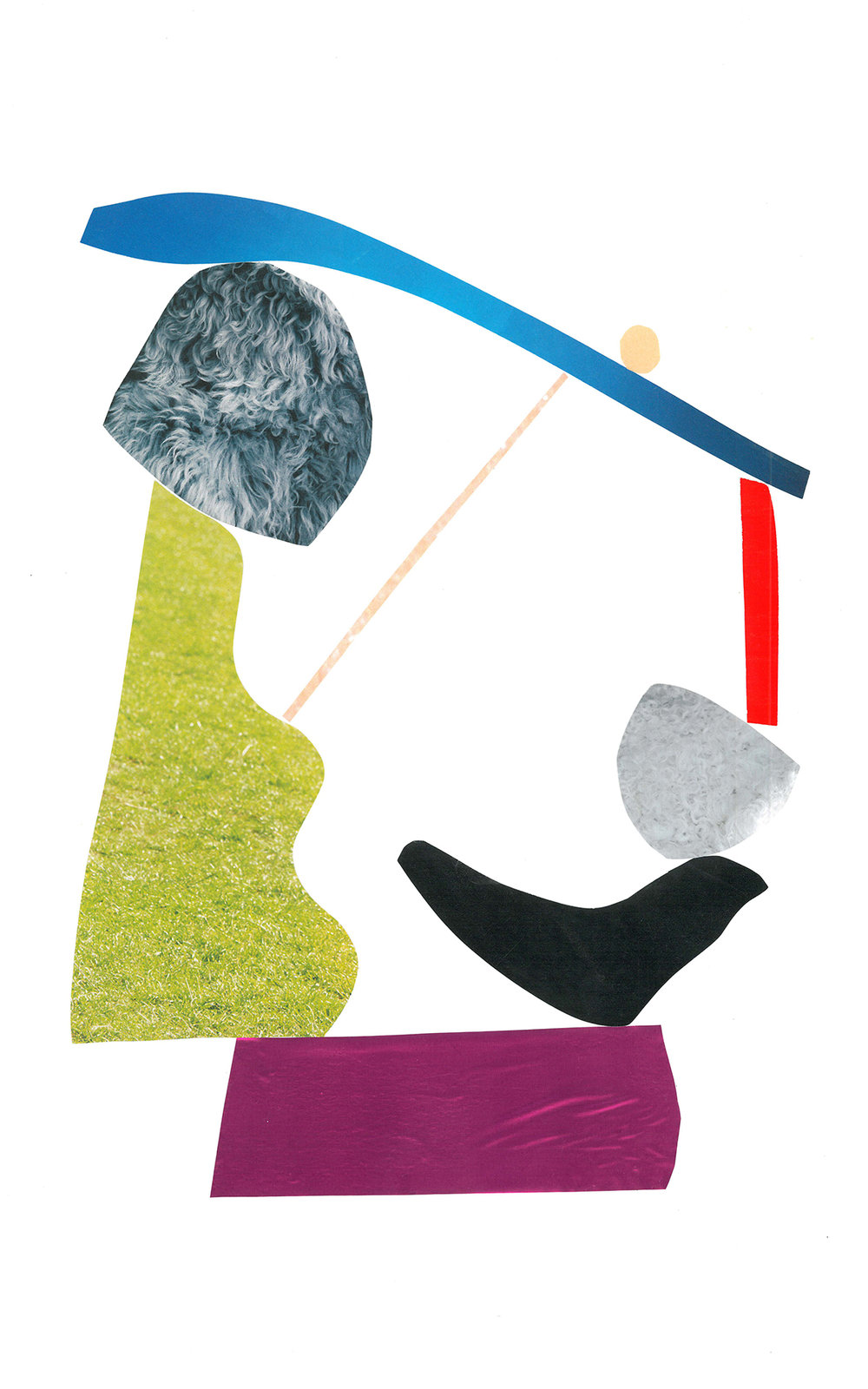Untitled Collage 2, Mixed media on paper, 2015