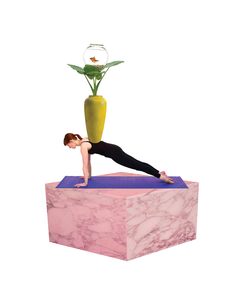 Yoga Totem 1, Digital collage, 2015