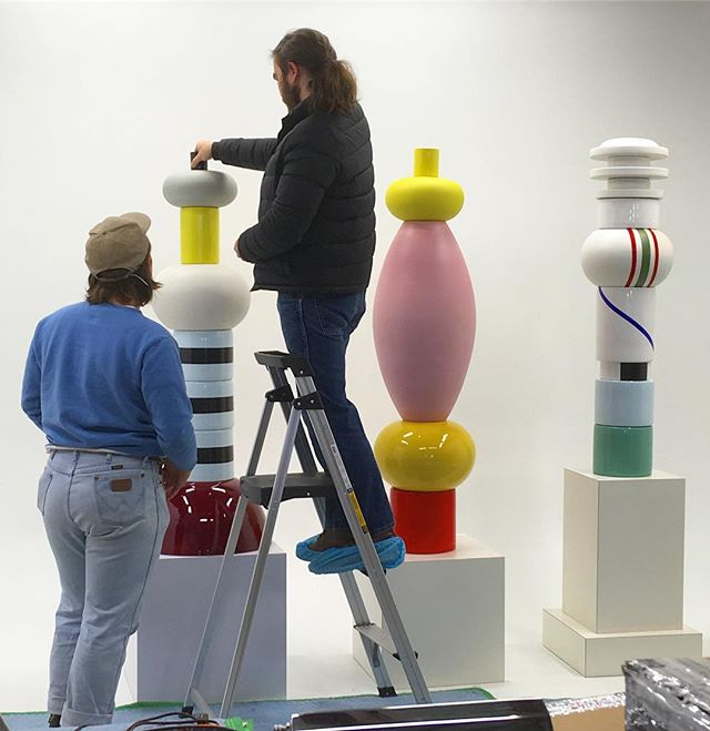 2 ding dongs + 3 sottsass totems = just another day at @retroinferno