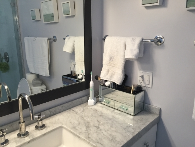 Fortunately, I Stumbled Across This Makeup Storage Unit From Pottery Barn  (I Have The Small Size). The Mirrored Outside Helps The Entire Piece Blend  Into ...