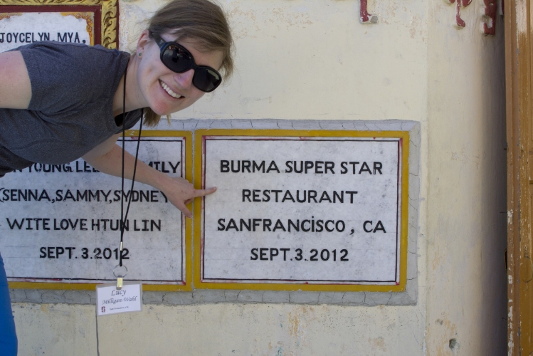 Climbed to the top of Mount Popa in Burma and found a piece of home!  Now I'll never forget those 700+ steps in bare feet.
