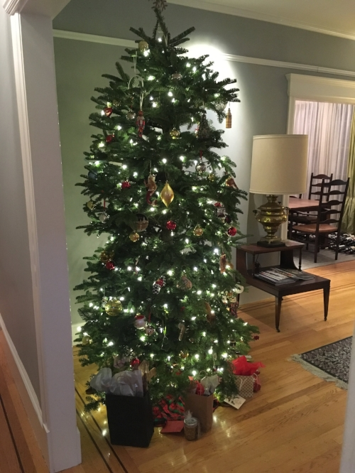 We always get our tree from  Delancey Street  - great service, and their trees are always fresh and beautiful!
