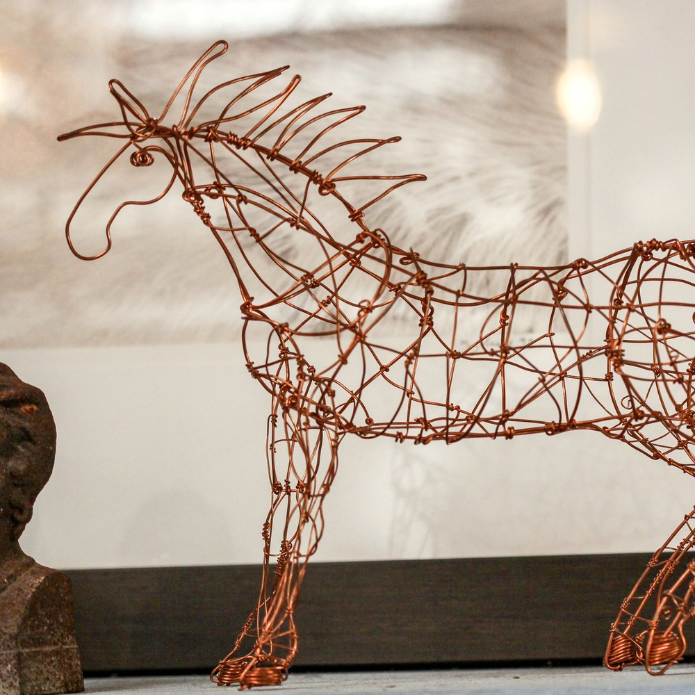 Ismael Sanchez Wire Sculpture   $240
