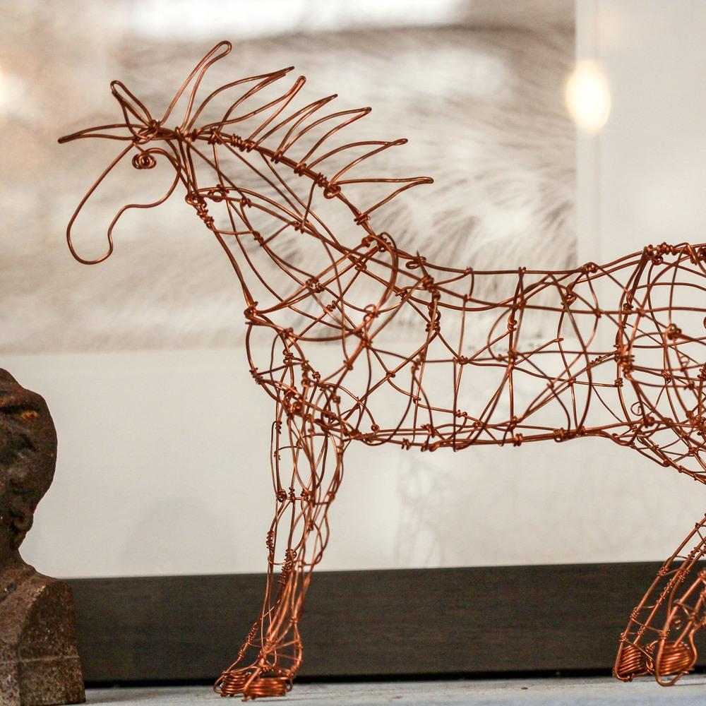 Ismael Sanchez Wire Sculpture $240