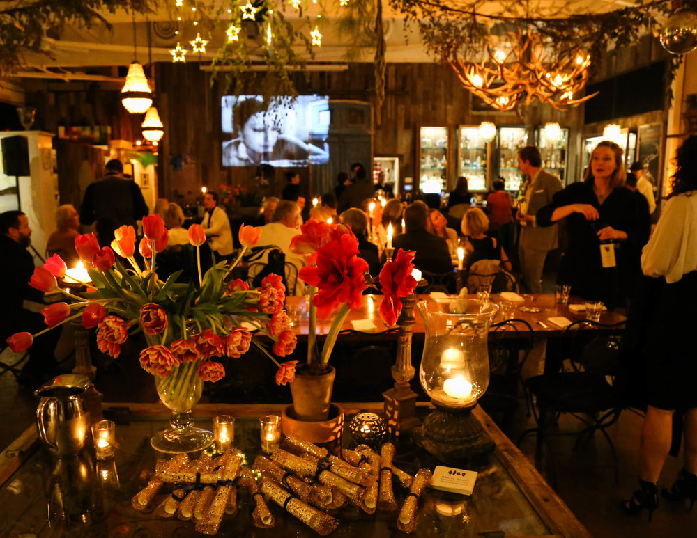Isabel ran a special NYE video in The Gallery where gold wrapped menus featured 74+ champagnes.