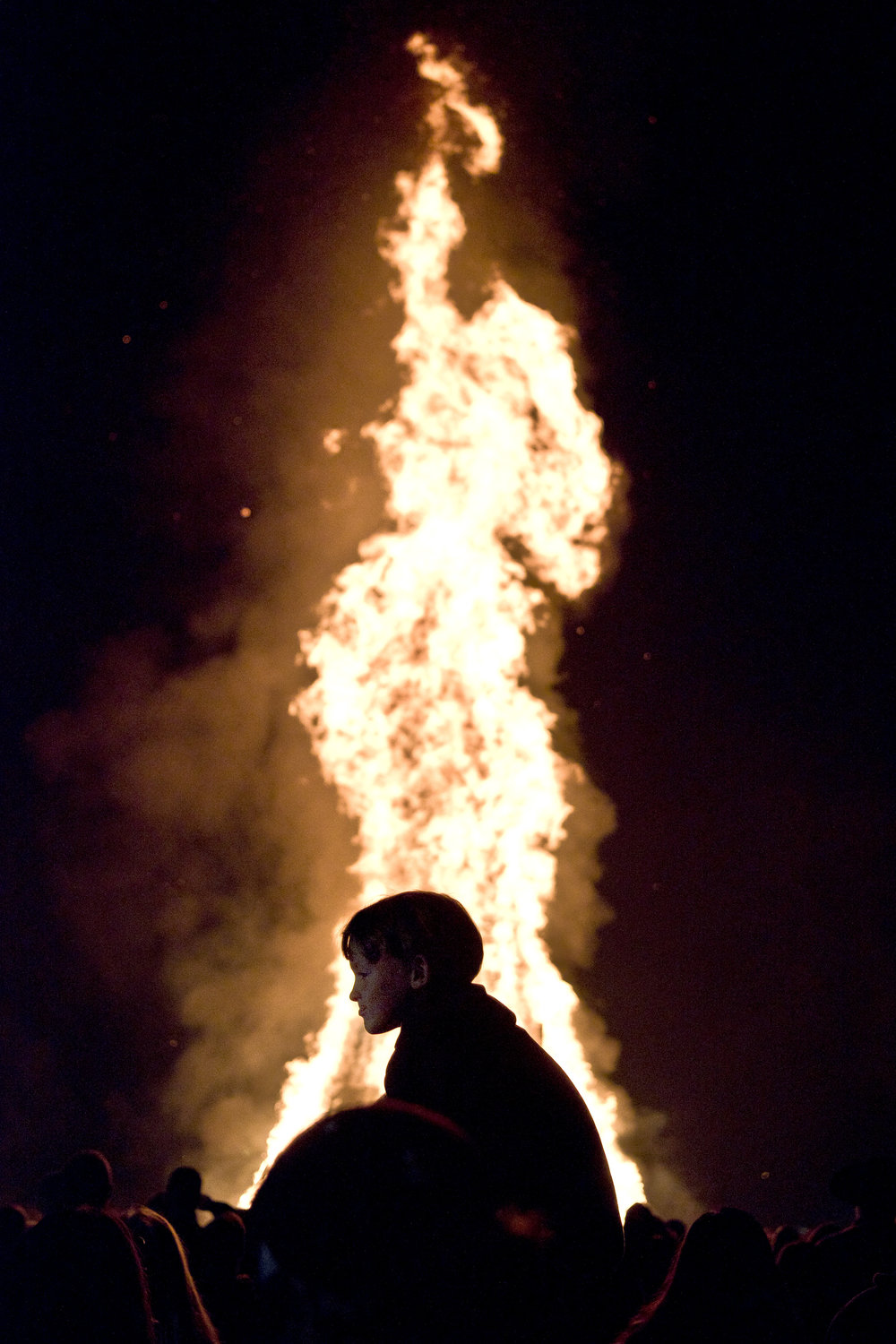 Wednesday night, Nov. 23, 2016, at the Student Bonfire site outside of Hearne, Texas. The Student Bonfire, which is no longer associated with Texas A&M University after the deadly collapse in 1999, is held the night before the university's final football game of the regular season.