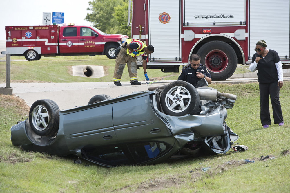 Rollover crash in College Station, Texas