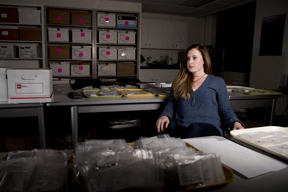 Archeologist Angela Gore