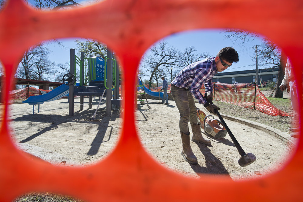 New playground goes up in College Station