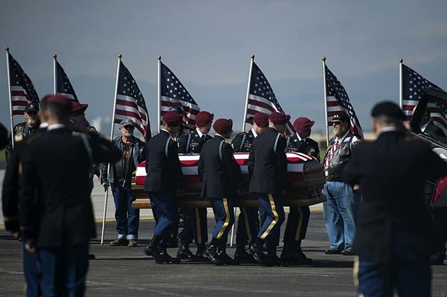 Very sad day in Northern Colorado, as the community brings fallen U.S. Army Specialist Gabriel Conde's body back home after he was killed in Afghanistan on April 30, 2018. He was 22 years old. (Timothy Hurst/The Coloradoan)