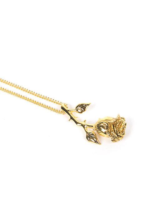 2fa1e486e86 Rose Necklace Gold — HELTER SKELTER METAL