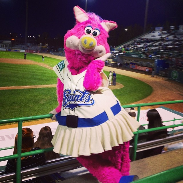 Mudonna  was stunning at the St. Paul Saints game!