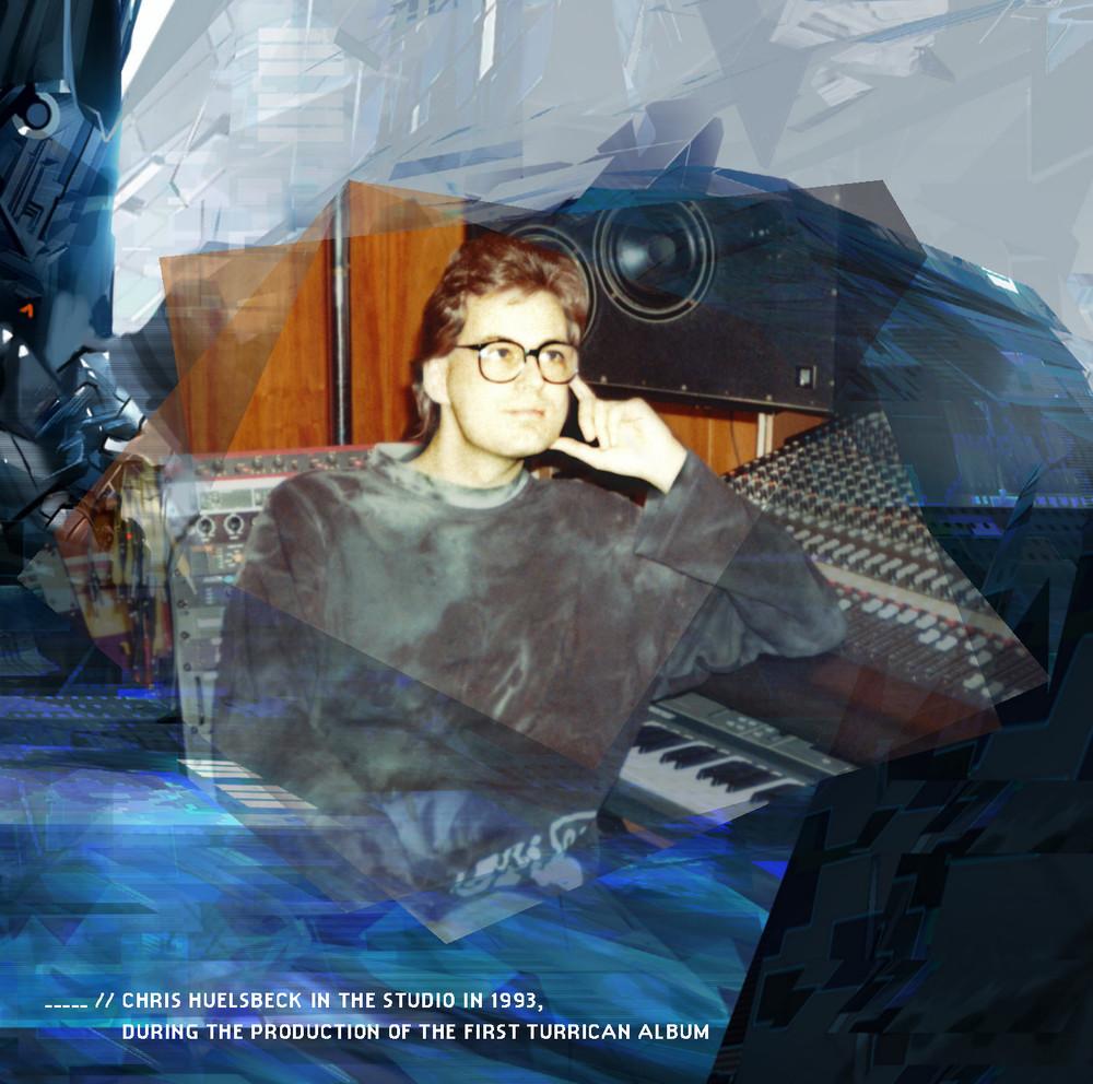 Chris Huelsbeck im Studio 1993, während der Produktion des ersten Turrican Albums