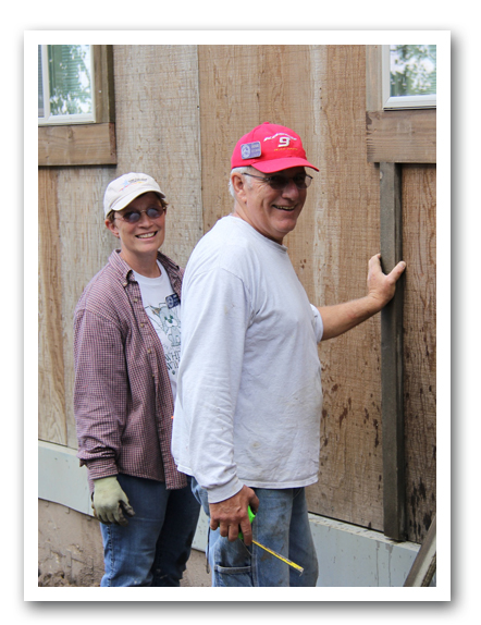 Doug and Amy from Sowers Ministries working on staff housing.