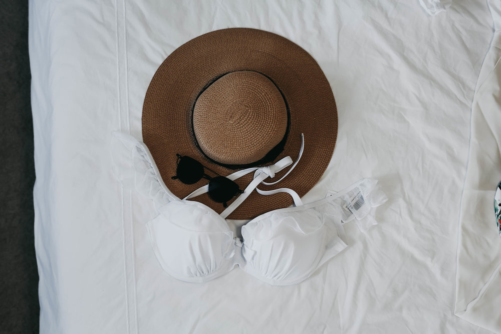 SHOP THIS POST - STRAW HAT // ASOS LACY BIKINI TOP //