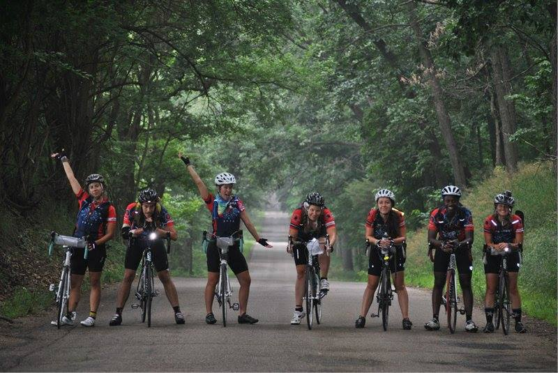 Image of Bike & Build alums, property of Bike & Build, Inc.