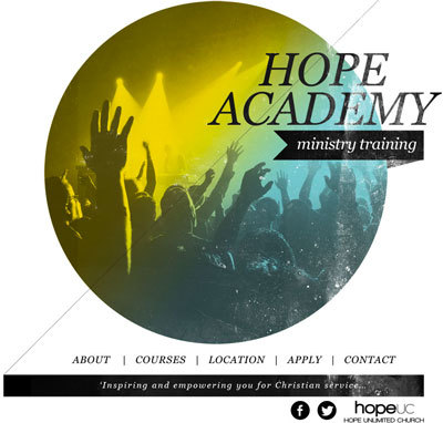 Branding, logo & website design for:  HOPE Academy