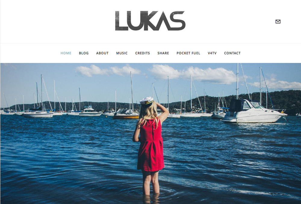 LUKAS  logo / branding, CD cover, website design, photography, marketing.