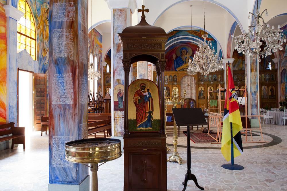 """25°58'30.5""""S 32°35'34.6""""E , 12/02/2014, 1411 Mozambican Madonna, Igreja Ortodoxa Grega dos Arcanjos"""