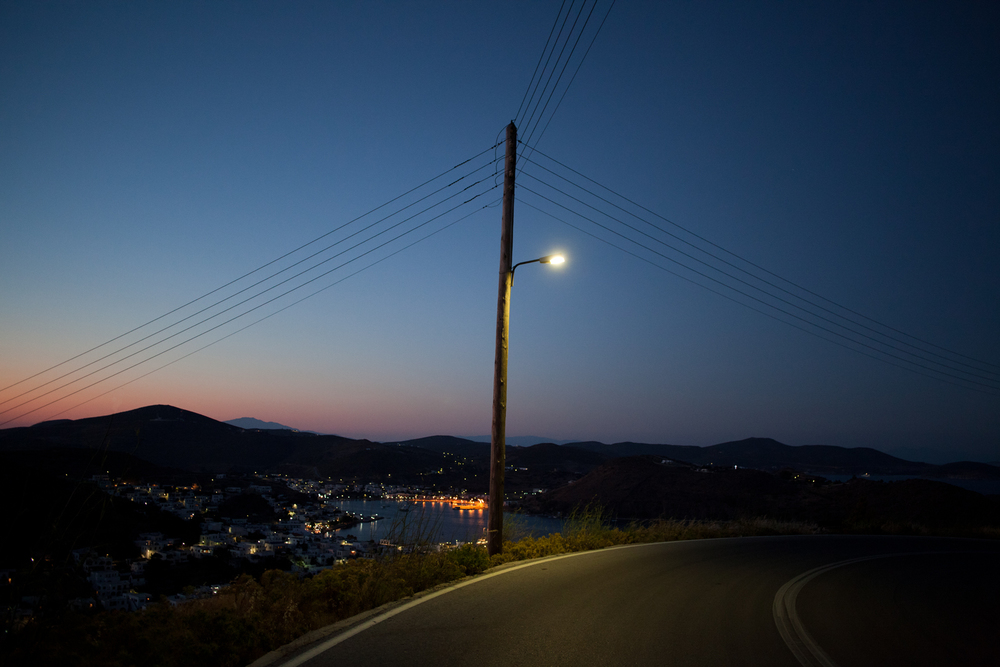 "37°19'00.9""N 26°32'32.4""E , 22/06/2014, 2110 Streetlight, road to Chora, Patmos, Greece"