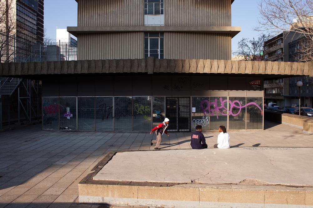 """26°11'37.8""""S 28°01'53.3""""E ,  31/07/2014, 1612    Skateboarder, Braamfontein, Johannesburg, South Africa"""