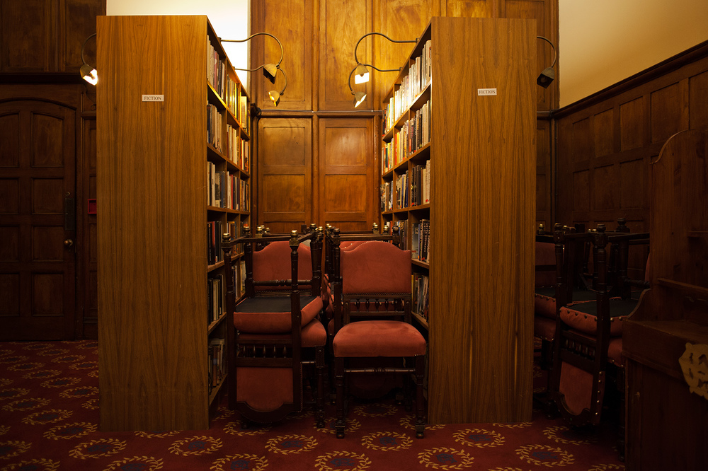 "26°12'21.3""S 28°02'27.8""E ,  02/08/2014, 2222 Reading chairs, Library annex, Rand Club, Johannesburg, South Africa"