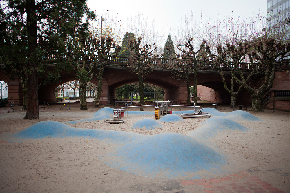 "50°06'26.8""N 8°40'34.7""E ,  16/12/2014, 1014 Playground, north bank of the Main River, Frankfurt, Germany"