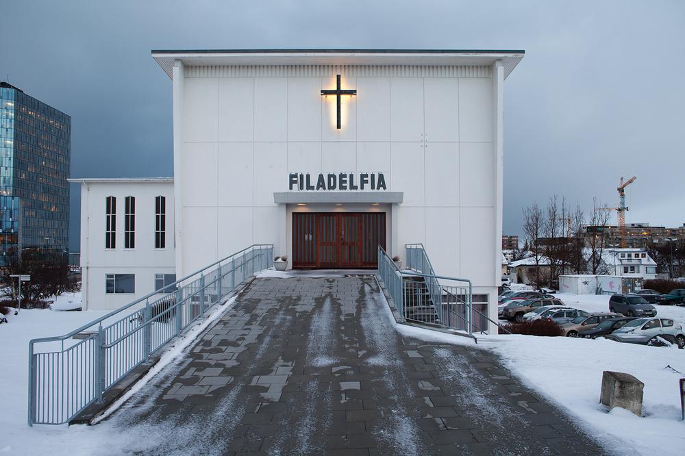 "64°08'35.3""N 21°54'23.1""W ,  17/12/2014, 1111 Pentecostal church, Reykjavik, Iceland"