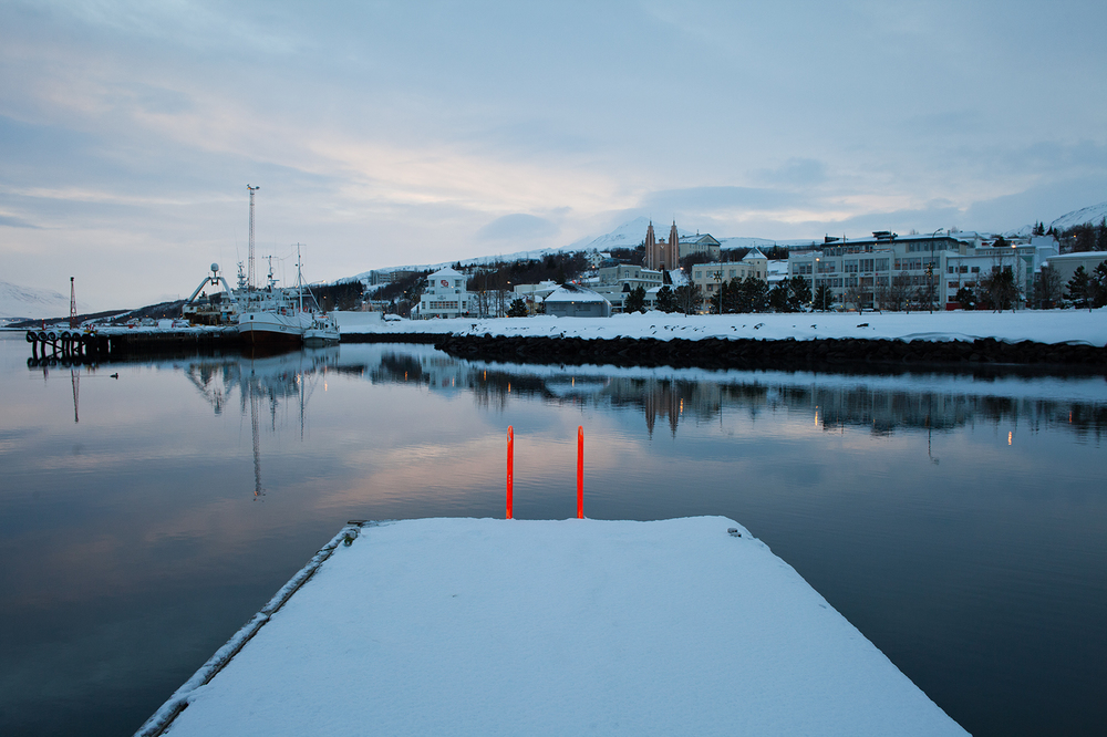"65°40'59.0""N 18°05'10.1""W,   18/12/2014, 1241 Dock ladder, Akureyri Harbour, Iceland"